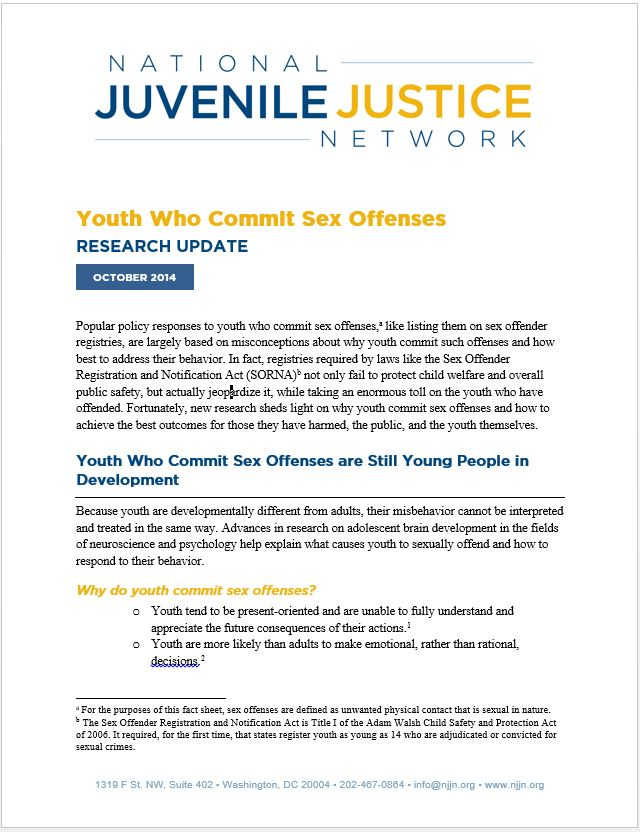 Treatment for youth sex offenders washington state