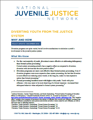 Diverting Youth from the Justice System: Why and How